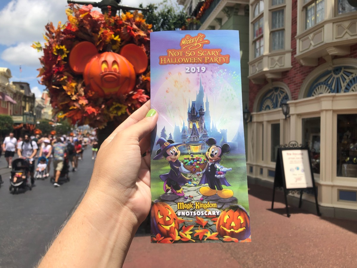 Mickey Mouse Not So Scary Halloween Map 2020 Mickeys Not so scary halloween party 2019 map magic kingdom august